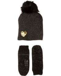 1fb4b80d432 Betsey Johnson - Heart To Heart Hat Gloves Two-piece Set - Lyst