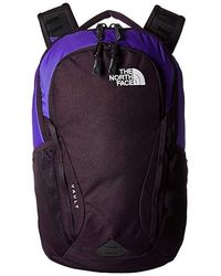 The North Face - Vault Backpack (deep Blue/galaxy Purple) Backpack Bags - Lyst