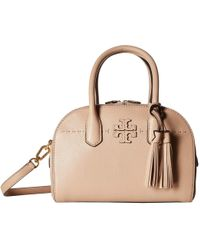 8415ad48f0d Lyst - Tory Burch Amalie Satchel in Natural
