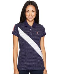 U.S. POLO ASSN. - Printed Stretch Pique Polo Shirt - Lyst