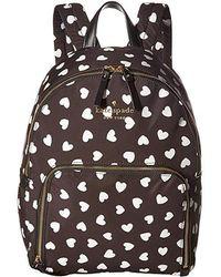 Kate Spade - Watson Hearts Hartley (black/cream) Handbags - Lyst