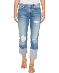 7 For All Mankind - Fashion Boyfriend Jeans W/ Wide Raw Cuff & Destroy In Vintage Air Classic 3 - Lyst