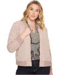 Lucky Brand - Plus Size Quilted Bomber Jacket - Lyst