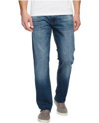 Mavi Jeans | Zach Regular Rise Straight Leg In Mid Shaded Williamsburg | Lyst