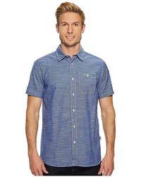 4b7a9a4b The North Face - Short Sleeve Baker Shirt (brit Blue) Short Sleeve Button Up