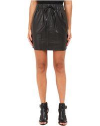 McQ - Drawstring Mini Skirt - Lyst