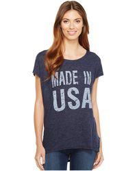 Allen Allen - Made In Usa Cap Sleeve Tee - Lyst