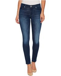 Hudson Jeans - Nico Mid-rise Super Skinny In Bright Eyes - Lyst