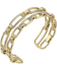 Michael Kors - Iconic Link Pave Open Double Cuff Bracelet - Lyst