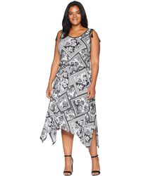 Lauren by Ralph Lauren - Plus Size Jersey Handkerchief Dress - Lyst