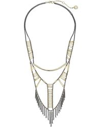 French Connection - Tube & Ladder Bead Necklace - Lyst