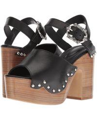 The Kooples - Wood Heel Leather Sandal - Lyst