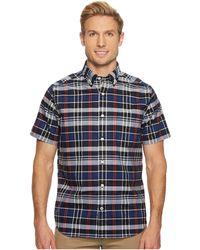 Nautica - Wear To Work Short Sleeve Plaid Shirt - Lyst