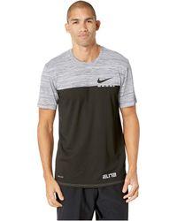 6eda0edecd36 Lyst - Nike Elite Back Stripe Graphic Basketball T-shirt in Red for Men