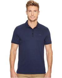 Calvin Klein - Liquid Cotton Solid Short Sleeve Polo - Lyst