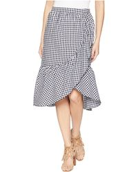 Romeo and Juliet Couture - Gingham Asymmetrical Midi Skirt - Lyst