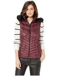 4ec9095dc4a MICHAEL Michael Kors Zip Front Knit And Down Vest A820141g (plum) Vest