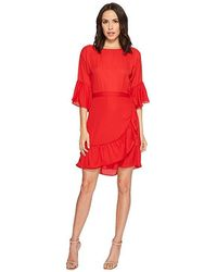 2263cdf89a5ca B Collection By Bobeau - Astrid Apron Dress (rio Red) Dress - Lyst