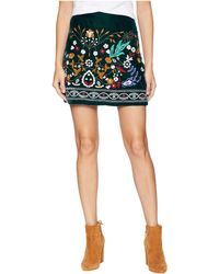 Romeo and Juliet Couture - Multicolor Embroidered Mini Skirt - Lyst