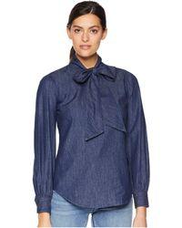 Lauren by Ralph Lauren - Necktie Denim Shirt - Lyst