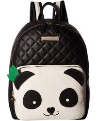 a4fecfd2e75 Lyst - Betsey Johnson Turnlock Backpack in Black