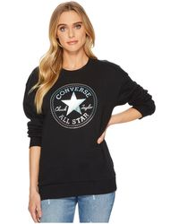 Converse - Shine Pack Graphic Oversized Crew - Lyst
