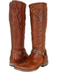 Frye | Phillip Studded Harness Tall | Lyst