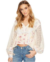Free People - Boogie All Night Printed Blouse - Lyst
