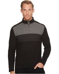 CALVIN KLEIN 205W39NYC - Color Blocked Chest Stripe 1/4 Snap Knit - Lyst