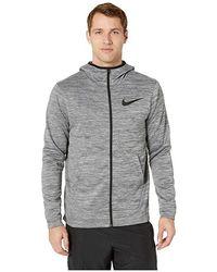 a62b0649 Nike - Spotlight Full Zip Hoodie (grey Heather/black) Sweatshirt - Lyst
