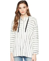 Two By Vince Camuto - Long Sleeve Nubby Stripe Hoodie - Lyst