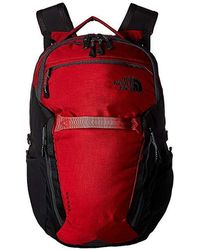 The North Face - Surge Backpack (rage Red Ripstop/tnf Black) Backpack Bags - Lyst