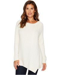 Two By Vince Camuto - Long Sleeve Smog Yarn Mixed Novelty Stitch Pullover - Lyst