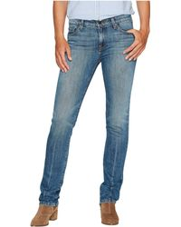 Agave - Rosie Stone Straight Fit Jeans In Medium Fade - Lyst