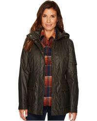 Pendleton - Waxed Cotton Hooded Zip Front Jacket - Lyst