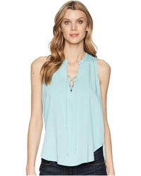 Stetson - 1580 Rayon Crepe Laced Loose Tank Top - Lyst