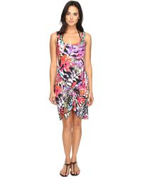 Nicole Miller - La Plage By Tropical Palms Wrap Dress Cover-up - Lyst