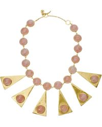 Tory Burch - Triangle Stone Statement Necklace - Lyst