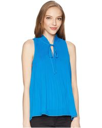 Romeo and Juliet Couture - Tie Up Fronted Pleated Top - Lyst