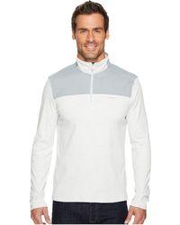 Calvin Klein - Mixed Media 1/4 Zip Pullover - Lyst