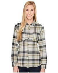 100bc2bab Long Sleeve Willow Creek Flannel (tnf Light Gray Heather Plaid) Long Sleeve  Button Up
