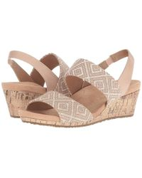 750a1c309 Vince Camuto Open Toe Platform Wedge Espadrille Sandals - Marcela in ...