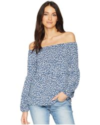 da8f4a9a13928 Lyst - MICHAEL Michael Kors Studded Off-the-shoulder Blouse in Black
