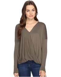 Culture Phit - Mahli Crossover Long Sleeve Top - Lyst