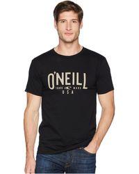 O'neill Sportswear - Register Short Sleeve Screen Tee - Lyst