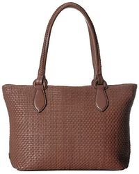bfedd06d82 Cole Haan Mila Leather Tote Bag in Brown - Lyst
