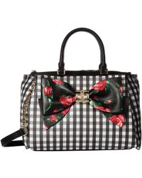 Betsey Johnson - Gingham Style Bow Satchel - Lyst