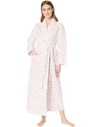Lyst - Carole Hochman Long Sleeve Short Robe (blue Geo) Women s Robe ... bb23fc67e