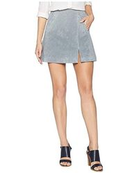 a4392fe5a4 Blank NYC - Suede Skirt W/ Side Slit (london Fog) Skirt - Lyst