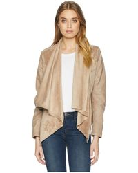 Blank NYC - Faux Suede Drape Front Jacket In Hump Day - Lyst